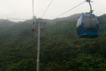 Cable car up the mountains