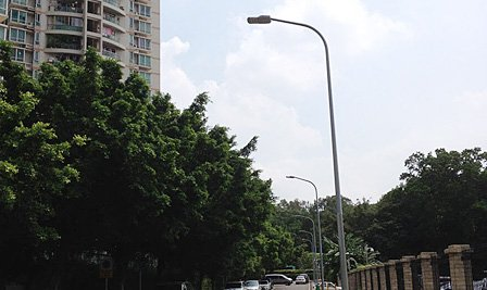BBE LED Street Light LS series is used for energy saving and