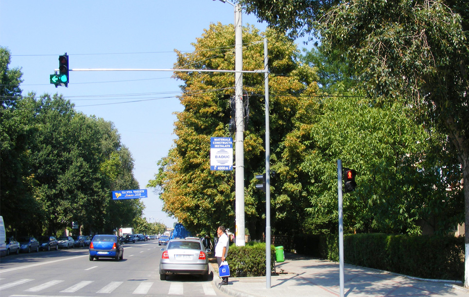 LED Traffic Light Project in Romania