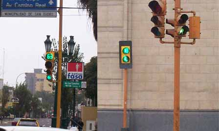 LED Traffic Light Project in Lima Peru