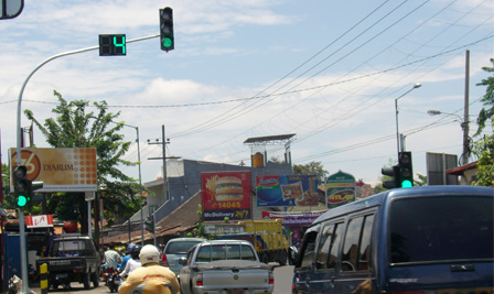 LED Traffic Light project in Sidoarjo East Java Indonesia