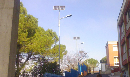 Solar LED Street Light LU2 in Italy