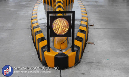 LED Caution light application for Toll Gate Project in Philippines.