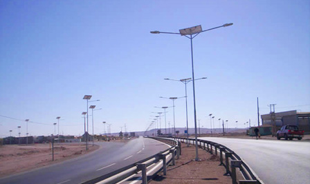 Solar LED Street Lighting, LU2 in Calama, Chile