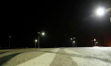 BBE Solar LED Street Light-LU2 in Abqaiq, KSA