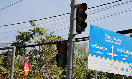 BBE Traffic Project appear in Vientiane, Laos