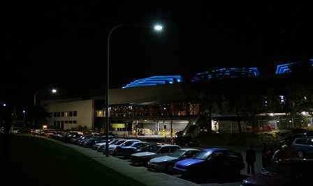LED Street Light, LU4 install in Australia Casino Packing Lot