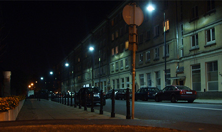 LED Street Light, LU4 at Dzielna Street in Warsaw Poland
