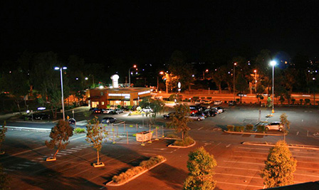 LED Street Light, LU6 installed in Australia Shopping Mall