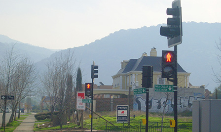 LED Traffic Light in Chile