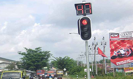 LED Traffic Light Project in Indonesia
