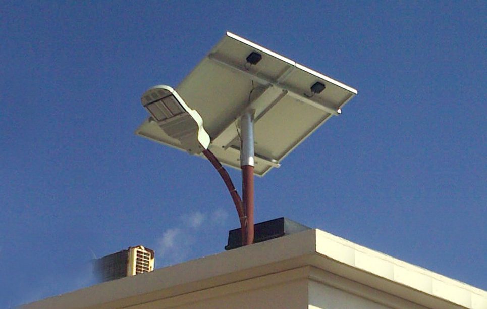 Solar LED Street light LU2 in Maldives