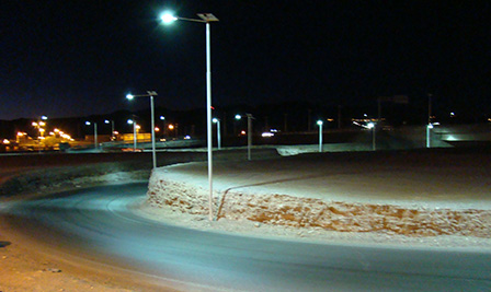 Solar LED Street Lighting, LU2 in Atacama Desert Chile