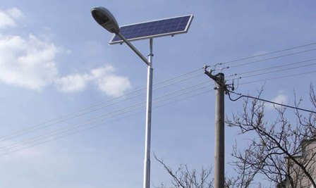 Solar LED Street Light, SP90 in Slovakia