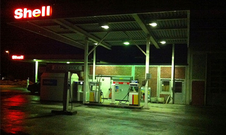 SP90 for Petrol Station Lighting in Norway
